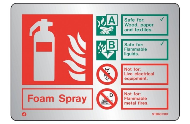 Stainless Steel Extinguisher Sign