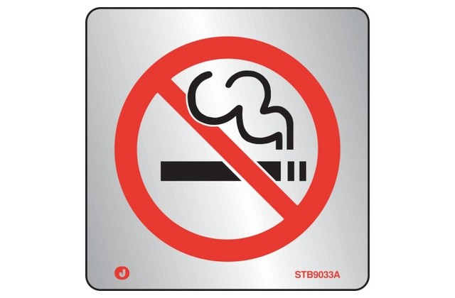 Stainless Steel No Smoking Sign