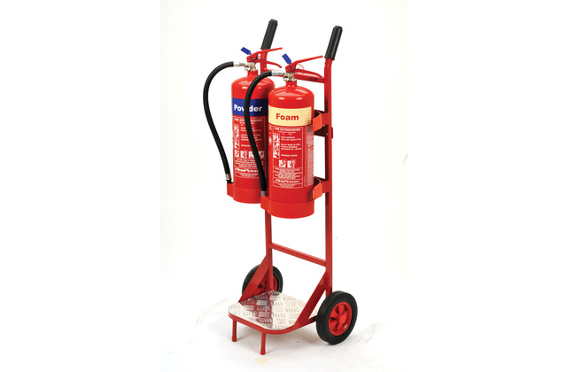 Double Extinguisher Trolley