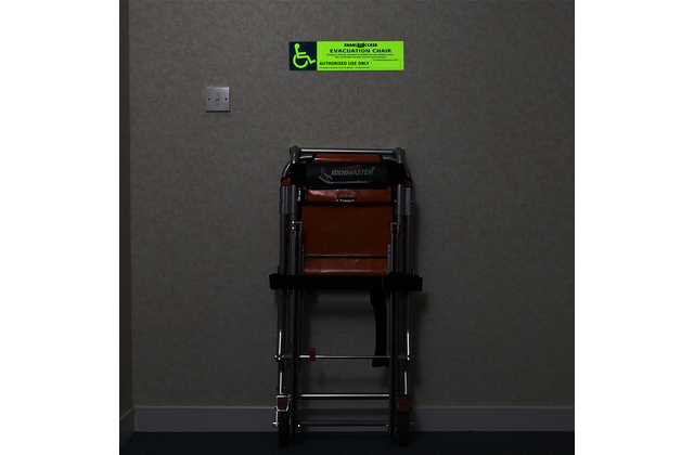 Photoluminescent Evacuation Chair Identification Sign
